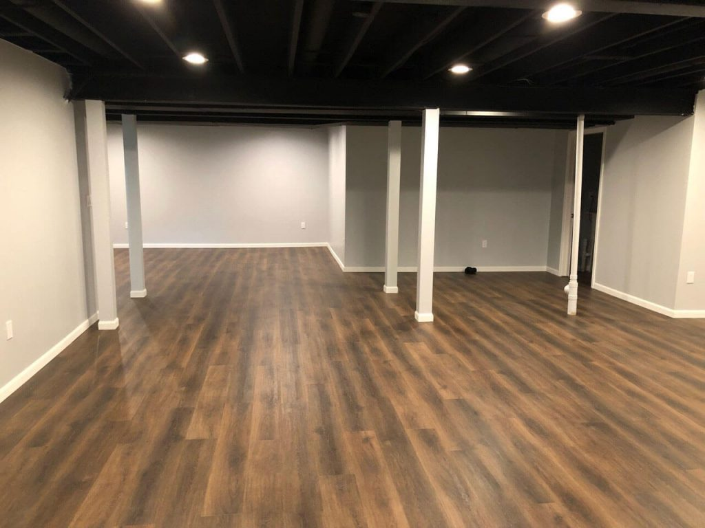Basement Remodel Wood Floors