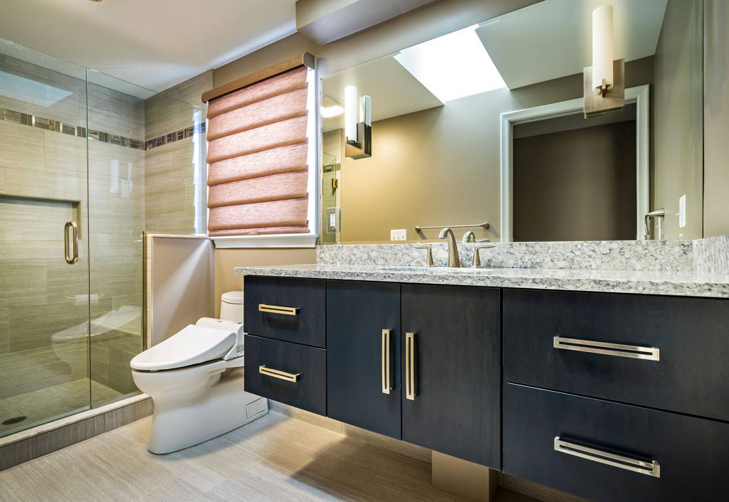 Contemporary Vanity Bathroom Renovation Washington, MI