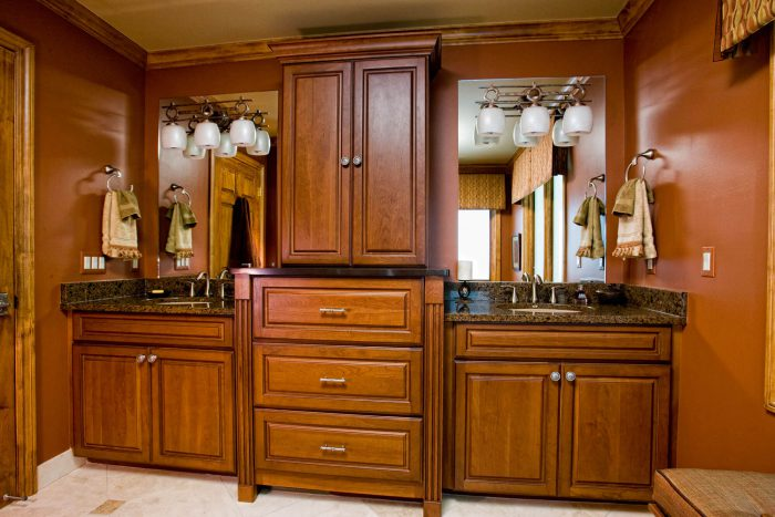 Bathroom Remodel Large Wooden Double Sink Vanity
