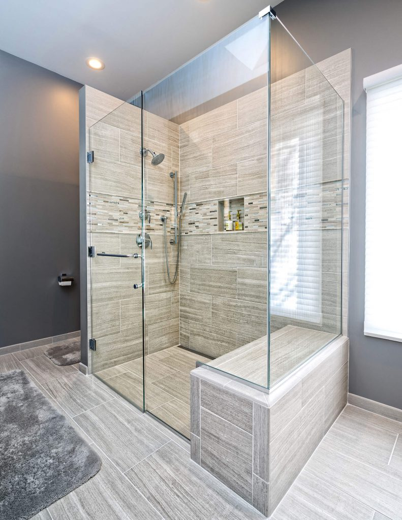 Handicap Accessible Walk In Glass Shower Bathroom Remodel
