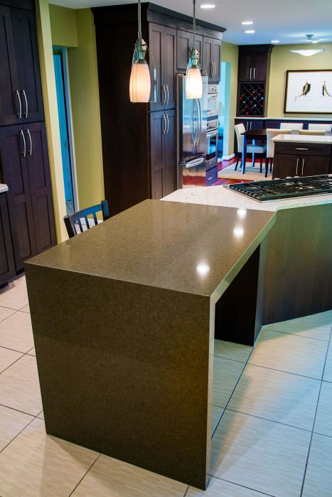 Solid Granite Countertop Kitchen Remodel