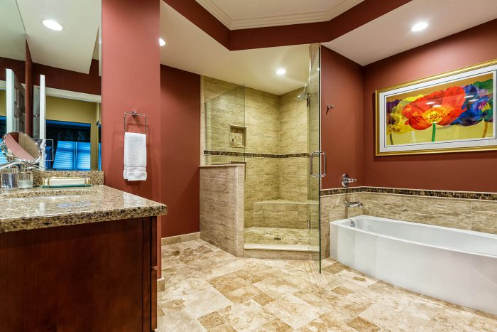 Master Bath Shower and Standing Tub Bathroom Remodel