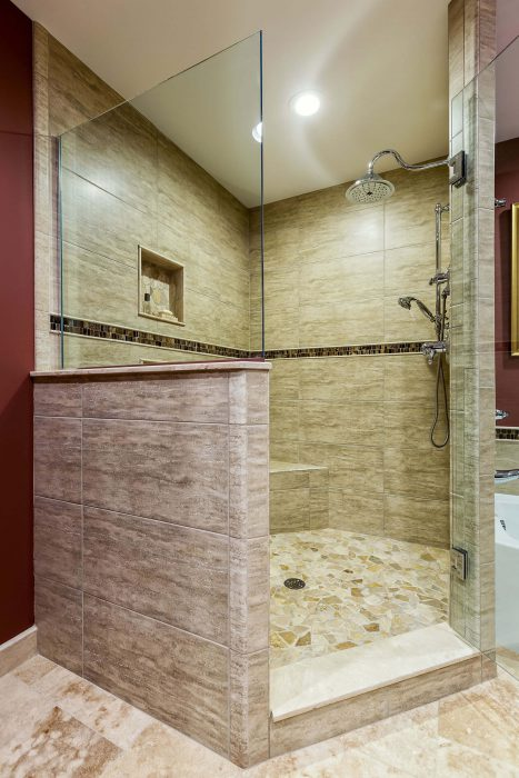 Large Walk In Shower Master Bath Bathroom Remodel