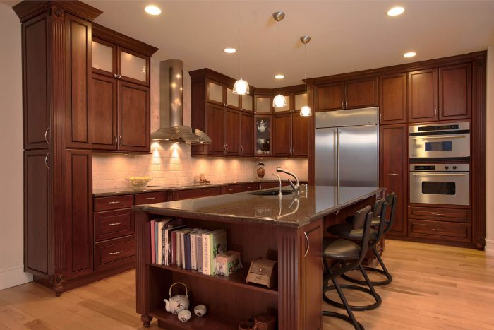 Large Dark Kitchen Remodel With Double Ovens