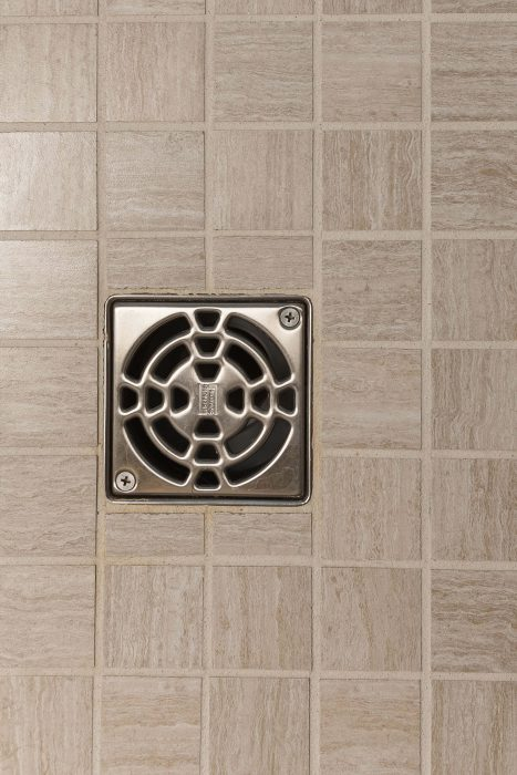 Master Bathroom Shower Drain and Tile