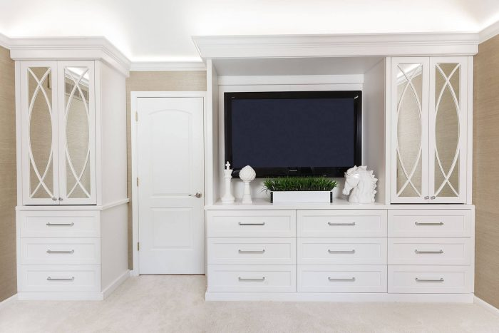 Master Suite Remodel Dresser and TV Case