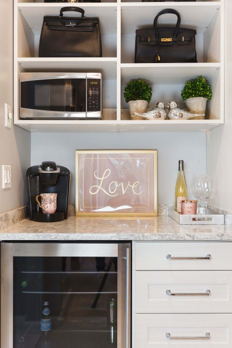 Coffee Station in Master Suite's Walk In Closet