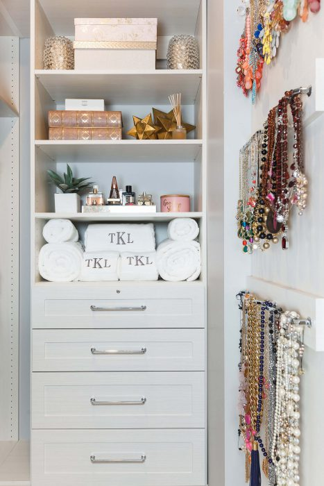 Master Suite Walk In Closer Jewelry Vanity