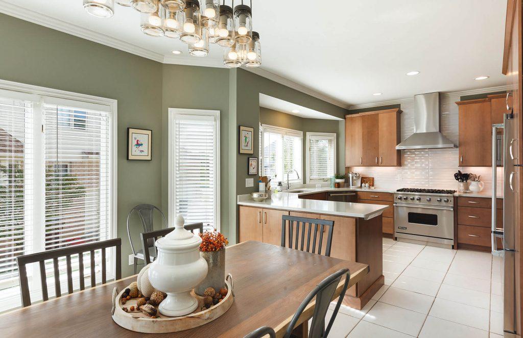 Kitchen Remodel White Quartz Countertops Bloomfield, MI