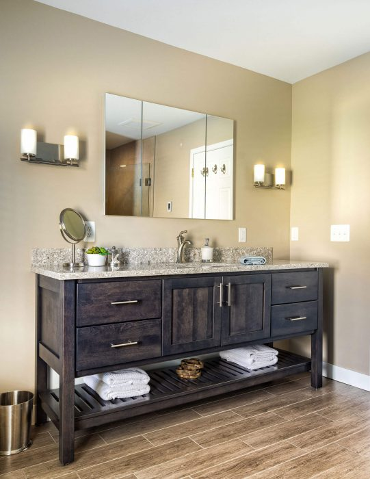 Dark Wood Bathroom Vanity Spa Bathroom Remodel