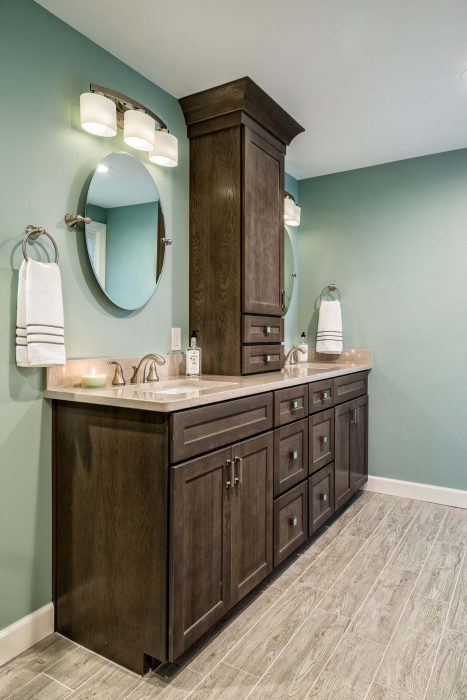 Dark Bathroom Vanity Remodel