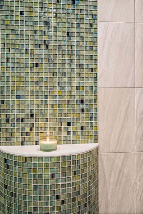 Bathroom Mosaic Tile Ledge