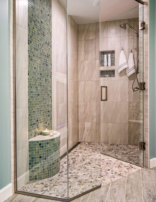 Mosaic Tile Shower Remodel