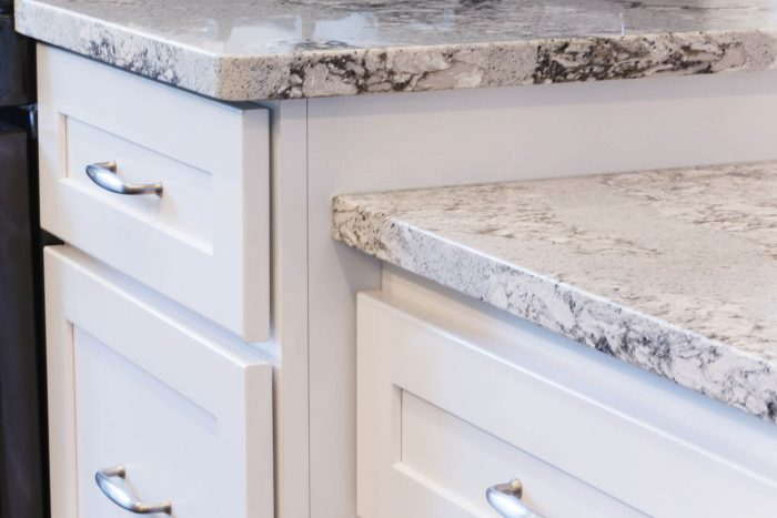 White Cabinets Light Countertop
