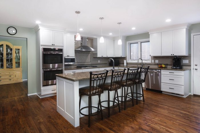 White Open Kitchen Remodel Addition