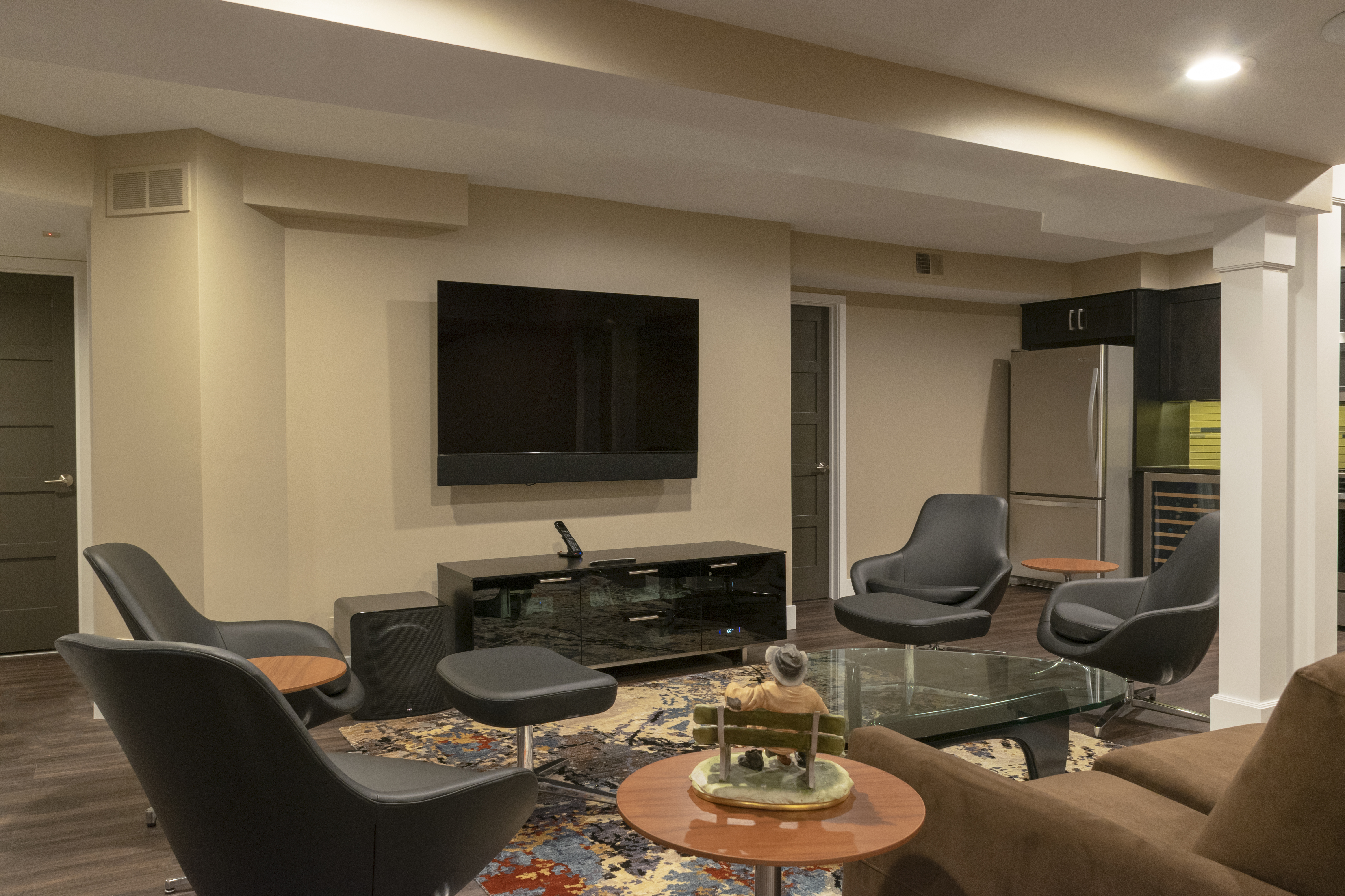 Basement Remodel with Entertainment Room