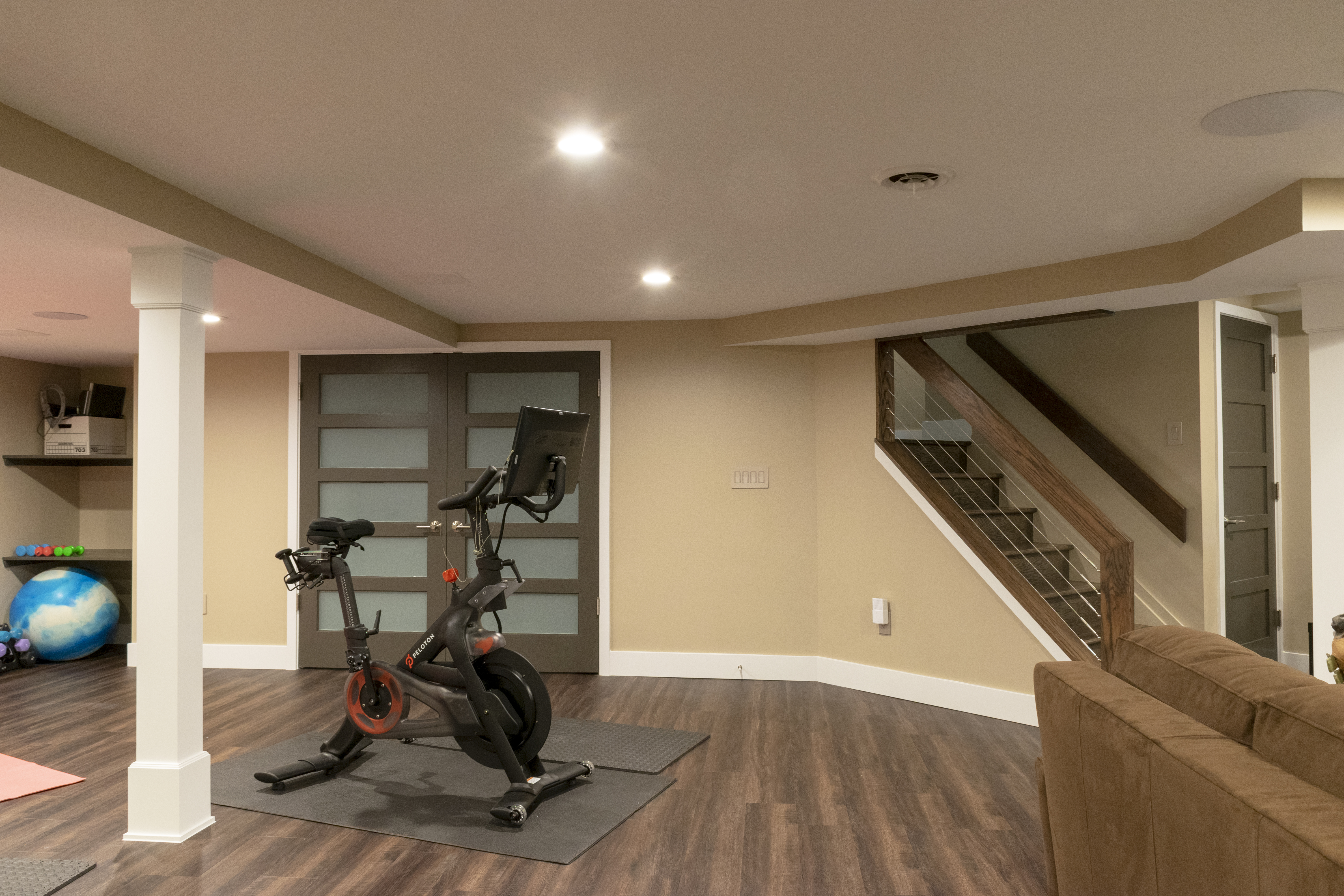 Basement Remodel with gym
