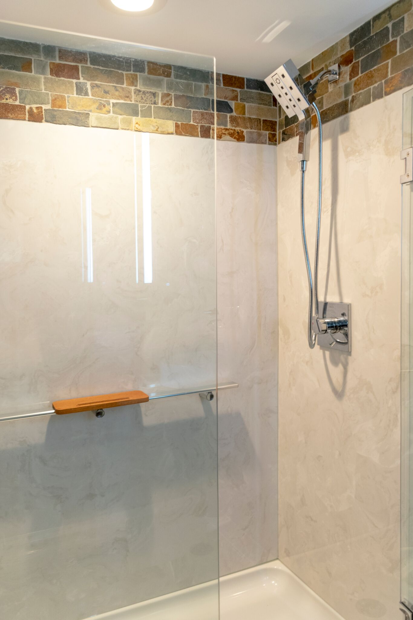 New Bath Remodel with Shower Head