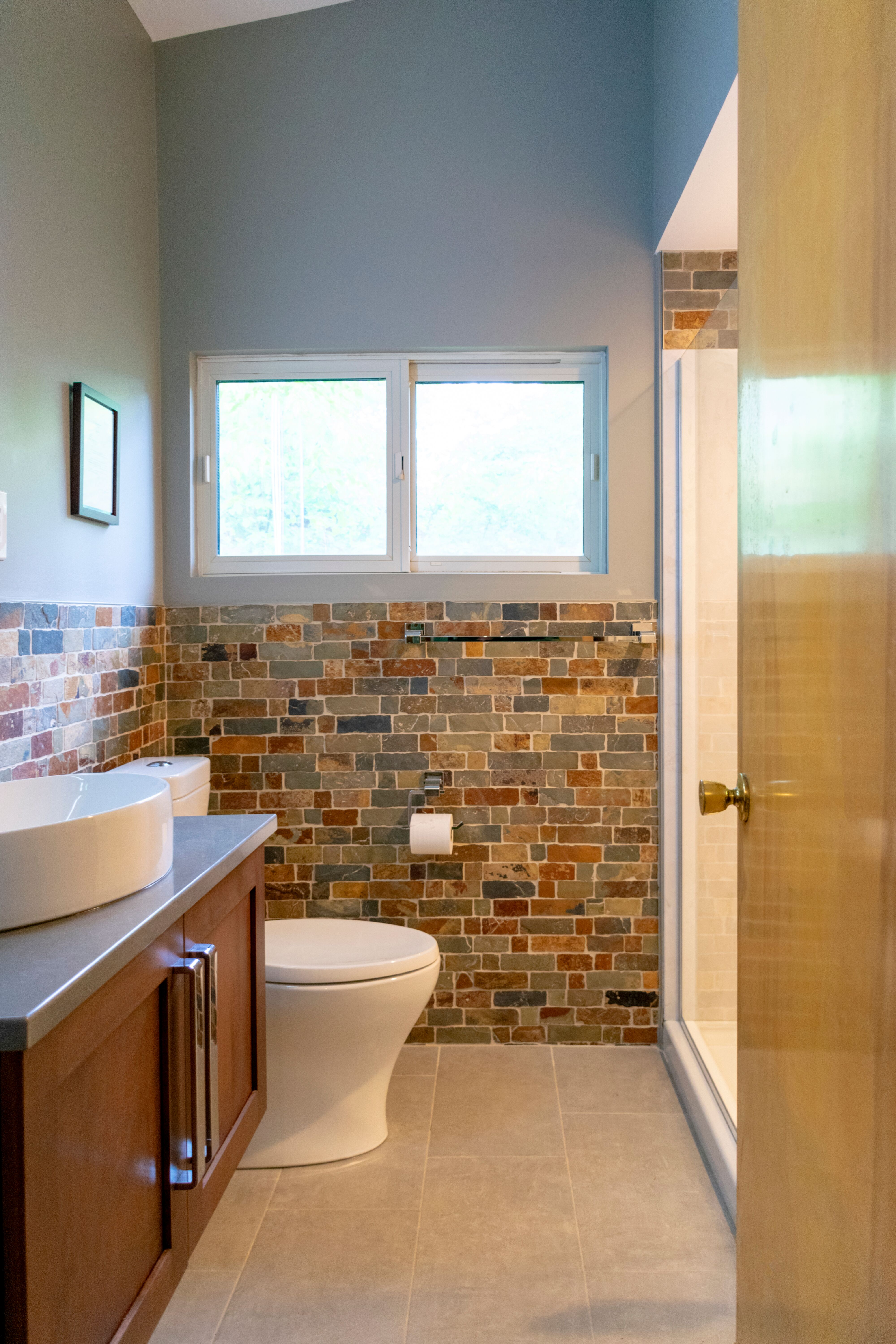 Shelby Township Bathroom Remodel with vaulted ceiling
