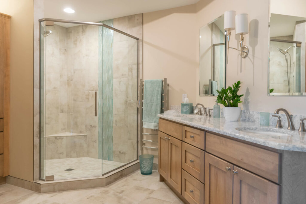 Shelby Township Bathroom Remodel Vanity and Shower
