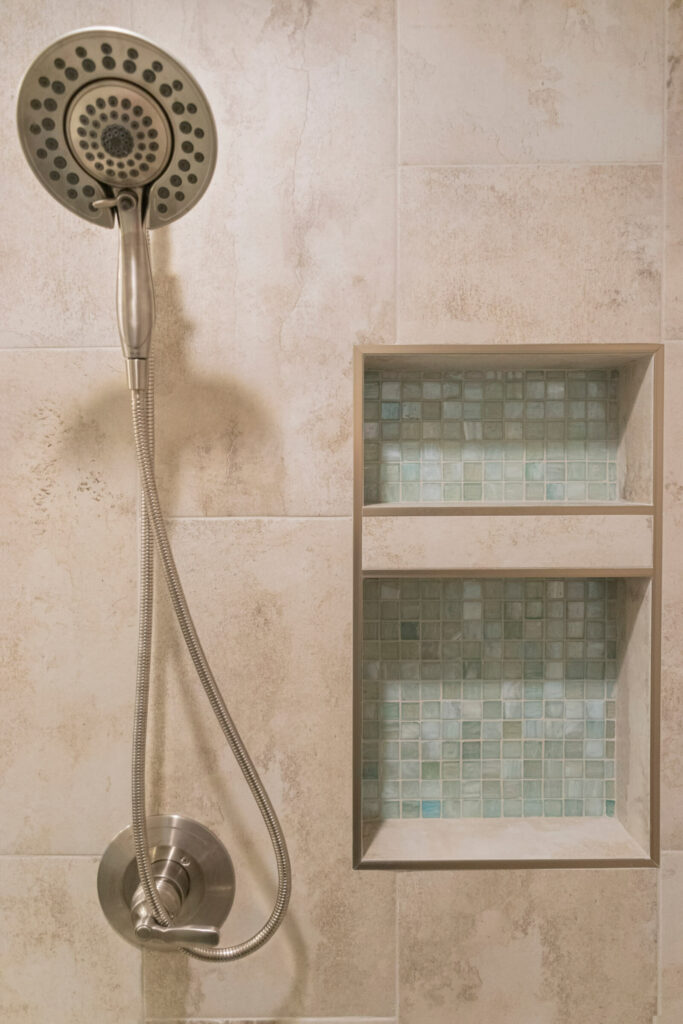 Bathroom Remodeler in Shelby Township with Shower Sprayer and niche