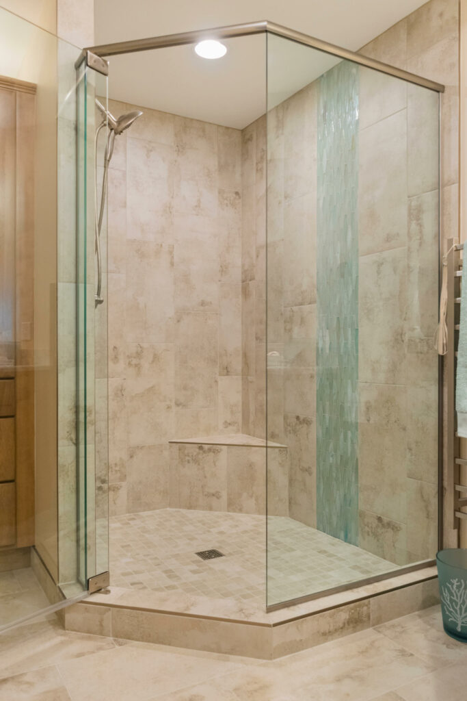 Shelby Township Bathroom Remodel with Euro Glass Door Shower